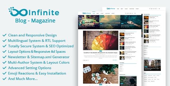Infinite - Blog & Magazine Script