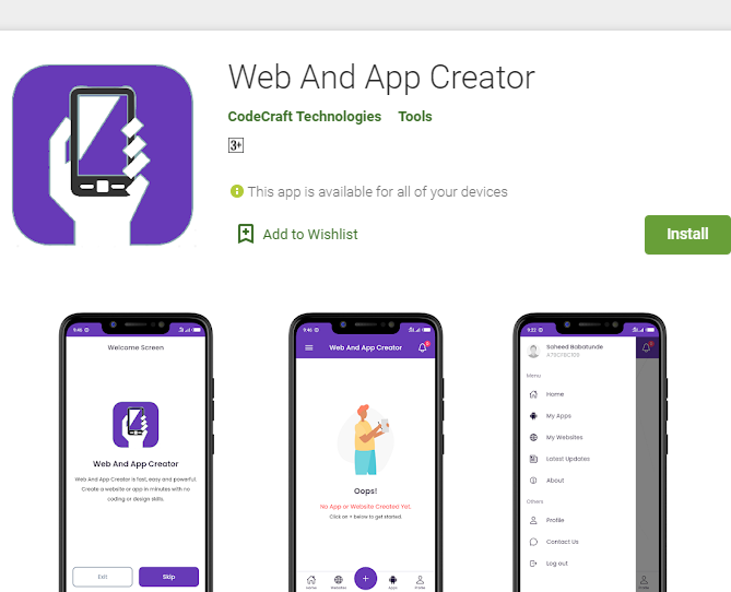 Web And App Creator